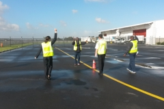 Wingwalker Marshalling - Execujet, Cape Town 2014